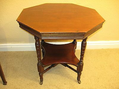 Edwardian Solid Walnut Octagonal Occasional or Centre Table