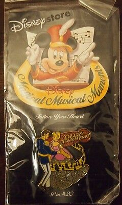 NEW Disney Store magical musical Moments Pin Follow Your Heart Cinderella # 20