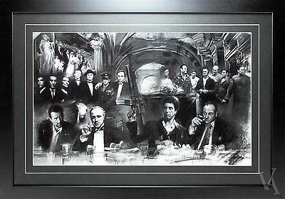 Movie Star Gangsters Sopranos,godfather,scarface Framed