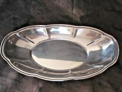 Friedman Silver Company Silver Plate Oval Bread Plate Bowl #17 Scalloped Edge