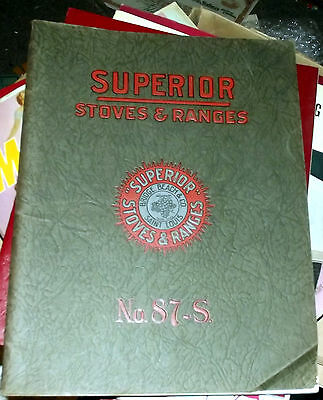 OLD Superior Stoves And Ranges No 87-s catalog