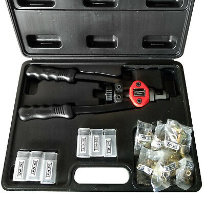 "Hand Riveter Gun Kit 13"" Rivet Nutsert Tool Riv Nuts Pneumatic Threaded Pop"