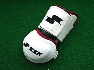 SSK Extra Batter Elbow Guard White/Red