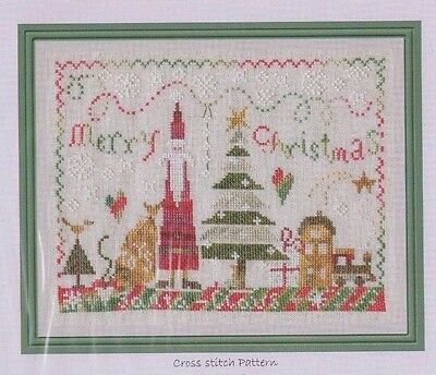 Santa - cute Christmas cross stitch chart - The Pink Needle