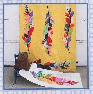 Skylark - modern applique quilt or runner PATTERN - Layer Cake Friendly