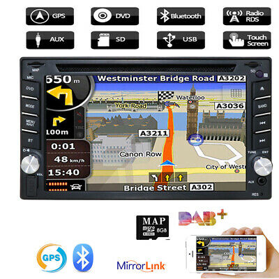 GPS Navigation With Map IPod Bluetooth Radio Double Din Car Stereo DVD Player