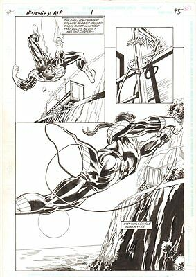 Nightwing: Alfred's Return #1 p.45 - Nightwing Action 1995 art by Dick Giordano