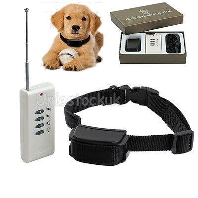 PET DOGS TRAINING COLLARS - Electronic Anti-Bark Stop Barking Remote Trainer AU