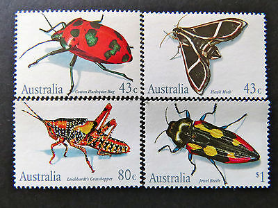 Australian Decimal Stamps:1991 Australian Insects - Set of 4 MNH