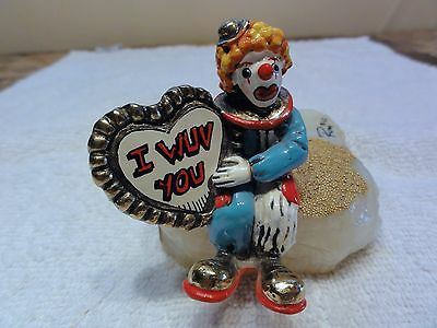 "Ron Lee "" Clown I WUV You "" Figurine / Sculpture - Perfect Condition"