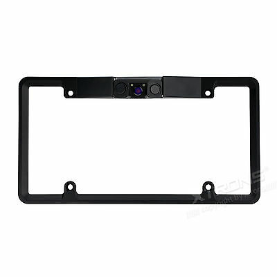 3 in1 Car Rear View Backup Camera 2 LED IR Night Vision US License Plate Frame