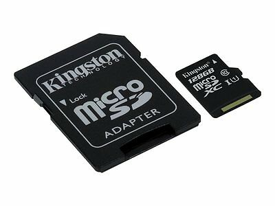 Kingston Flash memory card (microSDXC to SD adapter included) 128 GB UHS Class 1