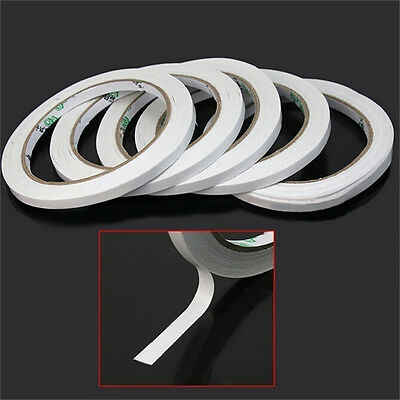 2/10rolls of White Double Sided Faced Strong Adhesive Tape for Office Supplie WL