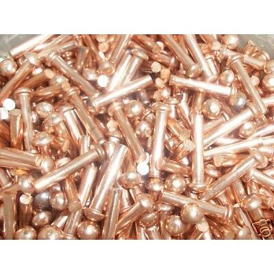 "1/16"" dia copper rivets 1/2"" Long Round head solid rivets Models, steam, Boiler"