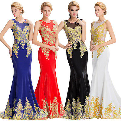 Long Formal Bridesmaid Formal Gown Ball Party Cocktail Evening Prom Maxi Dresses