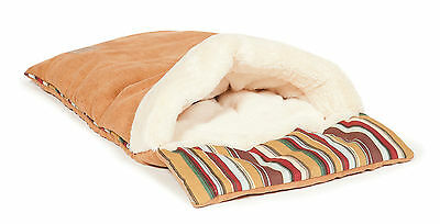 Luxurious Moroccan Faux Suede Cat Sleeping Bag Bed By Danish Design