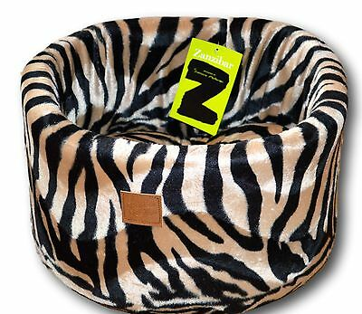 Luxurious Zanzibar Nesting Velvet Cat Sleeping Cosy Bed By Danish Design