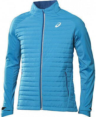 Asics Hybrid Mens Running Jacket - Blue