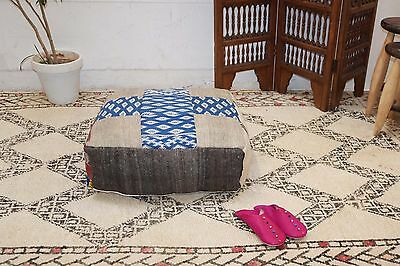 "Oriental Cushion TRIBAL PILLOW Ottoman Kilim Pouf 24"" square Pouf ottoman pillow"