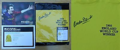 Gordon Banks Signed England 1966 World Cup Winner Shirt - ICONS (9416)