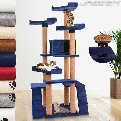 160cm Cat Tree Scratching Post Play Rest Climb Activity Centre Bed Pet Furniture