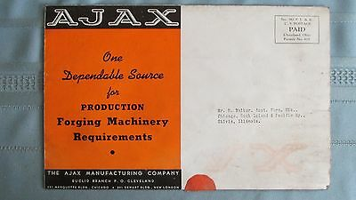 1930's Era Ajax Manufacturing Company Forging Machinery Brochure-Cleveland Ohio