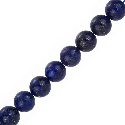 "Round Natural Blue Lapis Lazuli Beads 12mm 7.5"" Strand (F33/1)"