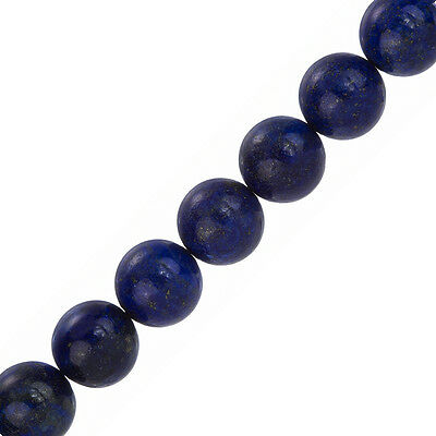 "Natural Blue Lapis Lazuli 14mm Round Beads 7.5"" Strand (F33/3)"
