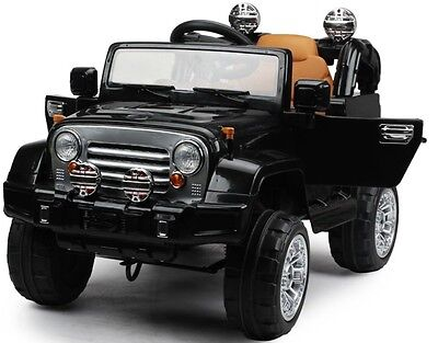 New Wrangler Style Ride on 12v Jeep Electric Kids Car with Remote - Black
