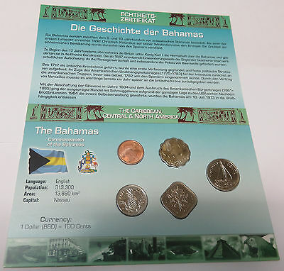 Kms Coinset World Money Bahamas 1 5 10 15 25 Cents Unc. Blister