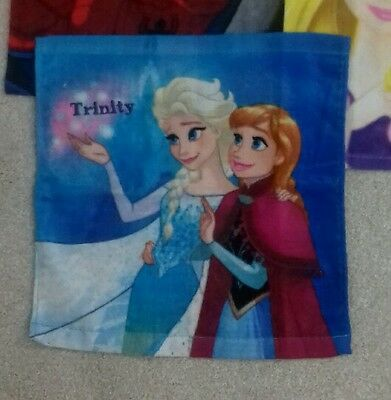 Personalised Frozen -  Face Cloth / Flannel/ - Any name stocking filler