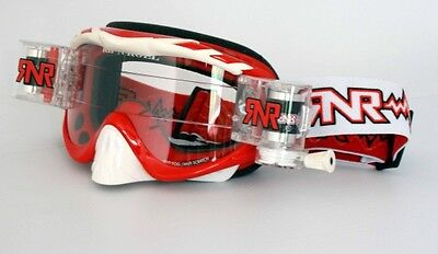 RNR Hybrid Racer Pack - Brille incl. Rip N Roll Roll Off System - rot