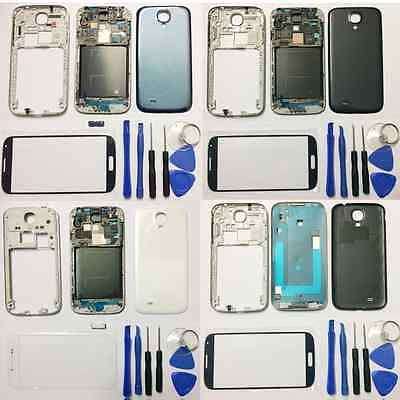 For Samsung Galaxy S4 i9500 i337 i545 Full Housing Case Cover + Screen Glass New