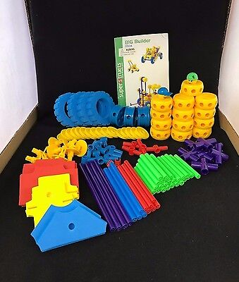Plastic Tinker Toy Style Building Construction Set For Parts 123 Pieces