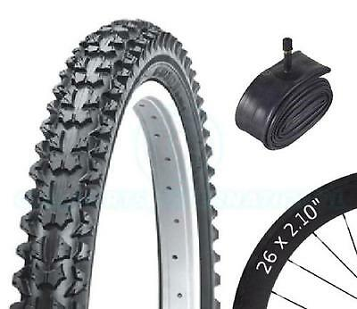 Bicycle Tyre Bike Tire - Mountain Bike - 26 x 2.10 - With Schrader Tube