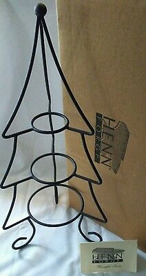 Henn Pottery Wrought Iron 1039 Small CHRISTMAS TREE Stand NEW in Box with Tags!