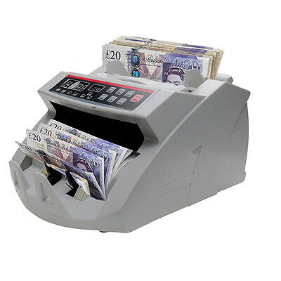 Bank Banknote Money Currency Counter Count Fake Detector Pound Cash Machine