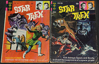 Vintage Gold Key/Whitman STAR TREK 14pc Low-Mid Grade Comic Lot VG- to FN TV
