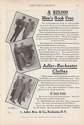 1909 L Adler Bros & Co Rochester NY Ad: Adler-Rochester Most Desirable Clothes