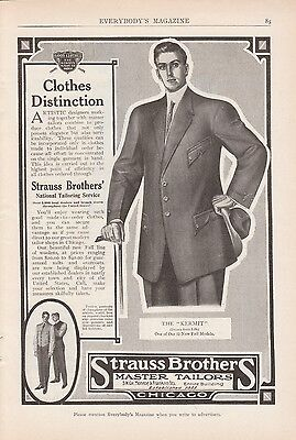 1909 Strauss Brothers Master Tailors Chicago IL Ad: The Kermit New Fall Model