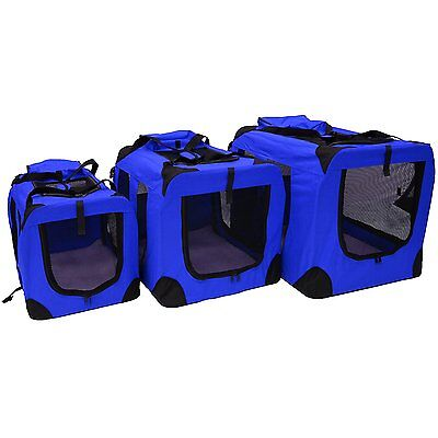 Dog Cat Fabric Portable Carrier Folding Crate Cage Pet Travel Foldable S M L Xl