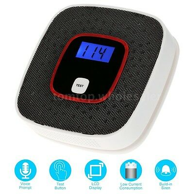 NEW Intelligent Voice Carbon Monoxide Detector CO Alarm Microprocessor Control