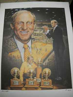 Ted Watts Lithograph Signed Artist Proof  # 45 /100 Missouri Big 8 Conference