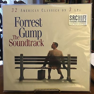 Forrest Gump Soundtrack 3 Vinyl Lp's Blue White And Red, 180 Gram