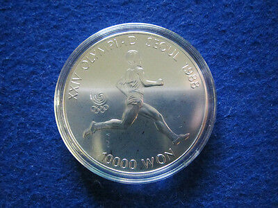 1988 South Korea Silver 10000 Won - BU - Encapsulated  - Free U S Shipping