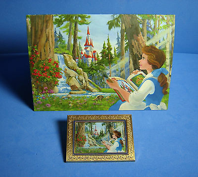 Beauty and The Beast Acme Hot Art Limited Release Disney Pin Original Art Card
