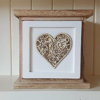 Single Drawer Wooden Chic N Shabby Kitchen Bedroom Bathroom Storage With Hearts
