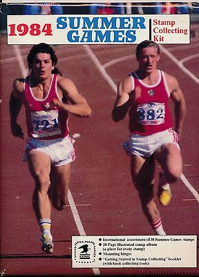 USPS 1984 Summer Games Stamp Collecting Kit