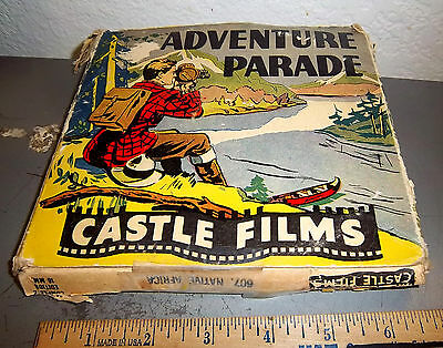 Castle Films Adventure Parade 16 mm movie, 607 Native Africa, great graphics