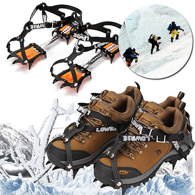 Ice Snow Climbing Anti-slip Shoe Covers Spike Cleats Crampons 10 Teeth